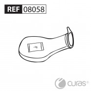 Disposable Urine Bottle, Round 1L, w/SAP by Curas™ & Lid