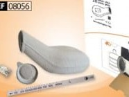 Disposable Urine Bottle, Round 1L, w/SAP by Curas™, Lid & Stick
